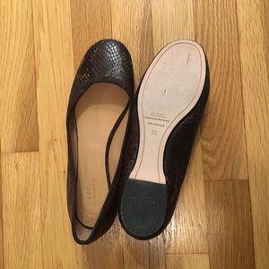 A.P.C. Python Ballet Flats Brown 39